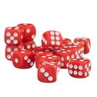 Perfeclan 50шт / Set TRPG Игры Подземелья Драконов D6 шестигранников Пятно Dice красный 12мм