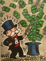 Alec Monopoly Banksy Hand Painted Modern Abstract Wall Art P...