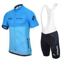 New Strava Team Cycling Ropa Montaña Bike Jersey Quick Dry Mens Summer Transpirable Ciclismo Jersey Babero Pantalones cortos Traje 031732