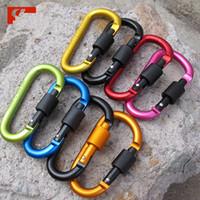 8 см алюминиевого сплава карабин D-образное кольцо брелок клип многоцветный кемпинг брелок Оснастки крюк открытый путешествия комплект Quickdraws DLH056