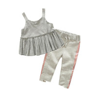 Mädchen kinder designer Kleidung Sets 2018 Sommer Kinder Mädchen Kleidung Ärmellose Tops + Hosen 2 STÜCKE Outfits Sets Kinder Mädchen Sport Kostüme