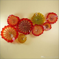 Современный арт деко муранские стеклянные настенные плиты европейский стиль индивидуальные ручной работы выдувные стеклянные плиты Арт дизайн настенные светильники для декора кухни