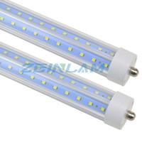 LED T8 ışık tüpü, 8ft, FA8 taban, 72W (150W değiştirme), 7200LM, Soğuk Beyaz 6000K, Paramparça, çift uçlu, FA8, Balast Balast
