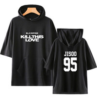 Kpop Blackpink KILLTHISLOVE Short Sleeve Hoodies Women Men S...