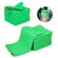 10 Stücke Auto Blau Grün Mikrofaser Handtuch Waschlappen Auto Autopflege Reinigungstücher weiche Tücher Staubtuch Ht autotuch reinigungswerkzeuge