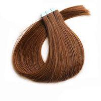 PU-Haut Schussband Haarverlängerungen 50g 20 pieces Brasilianisches menschliches Haar Gerade Band Haarverlängerungen