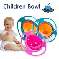 Kid Gyro Bowl Design Pratique Vaisselle Enfants Rotary Balance Nouveauté Gyro Umbrella 360 Rotation Plateau Solide DBC VT0407