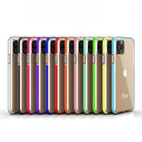 Phone Case trasparente per iPhone 11 Pro Max XS XR X 8 7 Samsung note10 S10 Plus Two-tone Coperchio del doppio di colore TPU