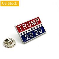 US Stock TRUMP 2020 Symbole Badge Coupon étoiles Les billets d'entrée Poker refroidissent Broche Manteau Jackets Sac à dos épinglettes Film Ventilateurs Cadeaux FY6103
