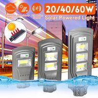 COB LED Solar Street Light 20W 40W 60W Super Bright Wall Lampe Capteur de mouvement Lampe de sécurité étanche pour jardin de jardin