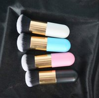 Single makeup brush flat head small fat foundation brush mus...