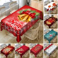 테이블을 덮고 새해 크리스마스 3D 인쇄 방수 전체 폴리 에스터 식탁보 크리스마스 장식 홈 식당 테이블 커버 WX9-1728