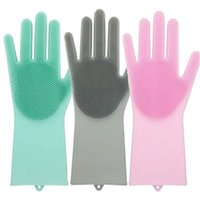 1 Pair Magic Silicone Gloves Car Insulated Gloves Kitchen Sc...