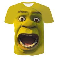 Shrek Camisa Engraçado T-shirt cosplay Hip Hop Roupas de Manga Curta T-shirt Street 3d Impressão T-shirt Dos Homens traje