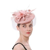 England Style High Quality Covered Veil Headdress Pink Black...
