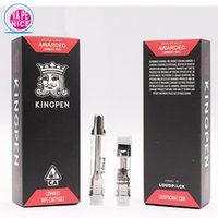 King pen Vape Cartridges 12 gusti Pyrex Glass Vape KINGPEN Empty Oil Vaporizzatore Serbatoi Serbatoio 0.5ml 1ml Ceramic Coil 0266224-1