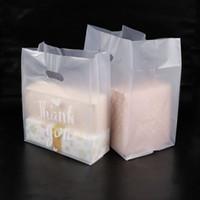 Danke Plastikgeschenkbeutel-Stoff-Speicher-Einkaufstasche mit dem Griff-Partei-Hochzeits-Plastiksüßigkeits-Kuchen, der Taschen einwickelt