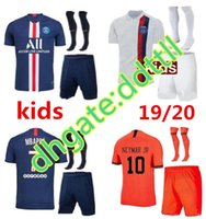 New psg kids kit set socks soccer jersey maillot psg kids 20...
