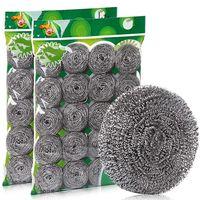 Keuken Roestvrijstalen Schuursponsjes Wassen Pot Huishoudelijke Warenhuis Schotel Wassen Decontamination Clean Wire Ball Draden Grote Wol Sponzen