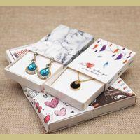 DREAMCACHER مطبوعة هدية مربع diy اليدوية الحب الزفاف الإحسان صندوق المملكة المتحدة / الولايات المتحدة الأمريكية الدولة إشارة هدية حزمة 12pcs + 12pc بطاقة الداخلية