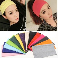 Candy Couleurs Écharpe Femme Hair Band Foulard Tête Ornement Yoga Sports Hair Bande Robe Cheveux De Mode Bijoux Drop Ship