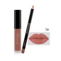 Matte Lip Gloss + Crayon à la lèvre Vente chaude Vente à lèvres liquide LIP Doublure LIP SET COUPE NO-STANDES ÉTAPILE
