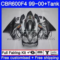 HONDA CBR600 Için vücut + Tankı F4 CBR 600 F4 FS CBR600 F 4 287HM.16 Gümüş siyah yeni CBR600F4 99 00 CBR600FS CBR 600F4 1999 2000