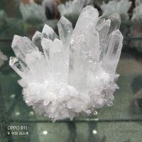 Высокое качество натуральный прозрачный кристалл камень кластера красивый белый кварц Кристалл Кристалл палочка точка кластера рейки исцеление для украшения