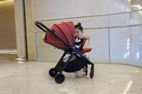 Haute Qualité Best-vente poussette simple pliant main haute lumière paysage assis ou allongé Preuve de choc à deux voies réversible Poussette bébé