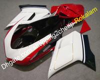 Ducati 848 1098 07-11 1198 Shell 2007-2011 화이트 레드 블랙 ABS 차체 공정 세트 (사출 성형)