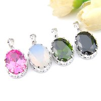LuckyShine Mix Color 4 Pieces  Lot Classic Elegant Charm Ova...