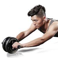 New manter a forma Rodas nenhum ruído Abdominal Roda Ab Rolo com Mat para o braço cintura Leg Gym Exercício Fitness Equipment Y200506