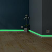 casa luminosa banda de zócalo etiqueta de la pared del dormitorio sala ecológico decoración calcomanía brillan en la oscuridad pegatinas de bricolaje Strip