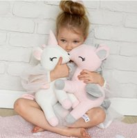 New Lovely Unicorn peluche Giocattoli morbidi farcito Cartoon Unicorn Dolls Cute Animal Horse Giocattoli per bambini Ragazze regalo Child Room Decoration