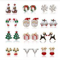 Санта-Клаус Рождественские серьги Снеговики Олень Белл Рождественская елка Ухо Ювелирные Аксессуары Прекрасные Рождественские подарки Для Женщин Девушки