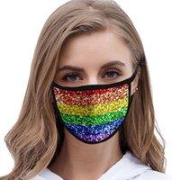 LGBT مثلي الجنس 3D الطباعة قناع أقنعة الوجه البوليستر القابلة لإعادة الاستخدام أقنعة خارج باب الرياضة ركوب الخيل أزياء قوس قزح قابلة لإعادة الاستخدام أقنعة الفم LJJK2339