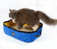 Pet Kedi Seyahat Katlanabilir Portatif Çöp Kutusu ile 600D Su geçirmez Oxford Kedi Kumu Pan Kedi Tedarikçiler