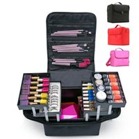 Faça bolsa de mão de mão grande capacidade multi-camada manicure cabeleireiro bordado kit kit de ferramentas de cosméticos caso de armazenamento saco