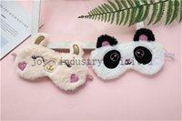 Belle et confortable en peluche Panda et le masque des yeux de lapin contour de masque pour les yeux de sommeil et les yeux confortable super doux maskvery confortable