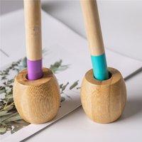 Cepillo de dientes titular de bambú natural para cepillos de dientes de madera Aseo biodegradable circular soporte de madera antibacteriana T2I5792
