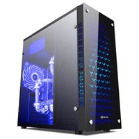 / 2.0 Caso Yemei X8 Nero Case Desktop Dual USB 3.0 Interfaccia forte dissipazione di calore trasparente 3 Fan ATX PC Gaming Torre