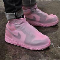 Calzodero portátil de moda diseñador de moda zapatos cubierta galosh silicona zapatos al aire libre botas impermeables lluvia botas antideslizantes mujeres goma overse