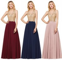 Long Evening Dress 2019 A line Formal Dress V Neck Sleeveles...