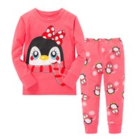 Pudcoco Herbst Winter Warm Baby Kinder Mädchen Pyjama Sets Zweiteiler Nachtwäsche Nachtwäsche Pyjamas Sets Oberteile und Unterteile Hosen