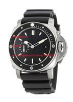 Kostenloser Versand Fabrik Lieferant Luxus Armbanduhren 47mm Automatische schwarze Gummibänder Herren Watchuhren Hohe Qualität 389