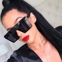 2019 neue luxus moderne stilvolle männer sonnenbrille flach top square designer brille übergroße quadratische sonnenbrille schattenspiegel brandneu mit box