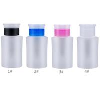 160 ml Pumpspender Flasche, Nagellackentferner Cleanser Zufuhr-Nagel-Kunst-Werkzeug, 2 Farben Kunststoff-Flüssigkeitsbehälter mit Flip Top Cap