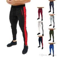 Taille crayon Hommes Pantalons athlétique Casual Harem Designer Pantalon de jogging Printemps Rayé élastiques