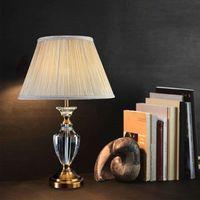 lüks masa lambaları oturma odası kristal masa lambası yatak odası altın baz büro çalışma masası aydınlatması kupa tipi başucu kristali ışıkları