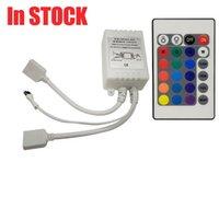 24 ключи светодиодный контроллер коробки Сид ИК RGB 1 до 2 регулятор Remote ИК диммер 12В для RGB 3528 5050 светодиодные полосы света